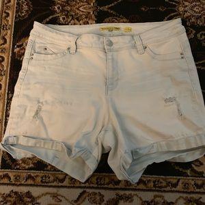 YMI mid rise jean shorts